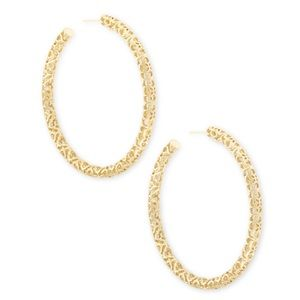 Kendra Scott Maggie Hoop Earrings in Gold